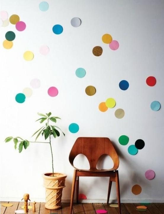 33 Fun And Bright Polka Dot Home Décor Ideas - DigsDi