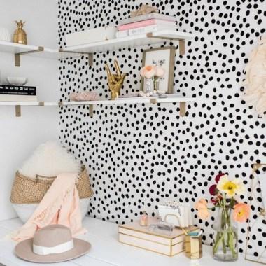 18+ Fun And Bright Polka Dot Home Decor Ideas #PolkaDotHomeDecor .