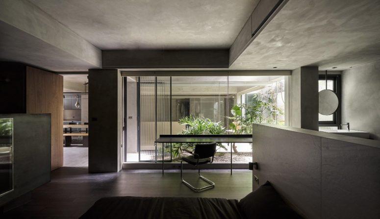 Minimalist And Industrial Moody Grey Apartment - DigsDi