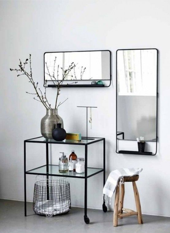 29 Functional And Stylish Bathroom Mirrors | House doctor, Black .