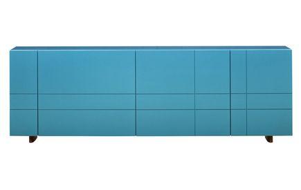 Kilt Credenza: Tartan pattern turquoise credenza from Stockholm .