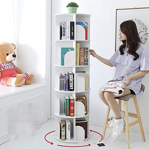 Amazon.com: WJXBoos Bookshelf,Creative 360°Rotating Bookcase .