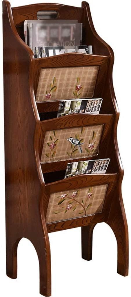 Amazon.com: Bookcases Bookshelf Wooden Magazine Rack Retro .