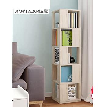 Amazon.com: JX&BOOS Swivel Bookshelf,Floor Rack Simple Bookcase .