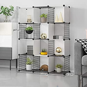Amazon.com: Storage Cubes Wire Grid Bookcase, Modular Metal Cube .