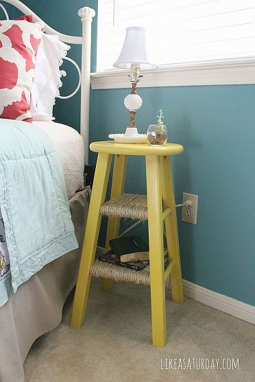 Side table repurposed from barstool   Home diy, Home, Dec