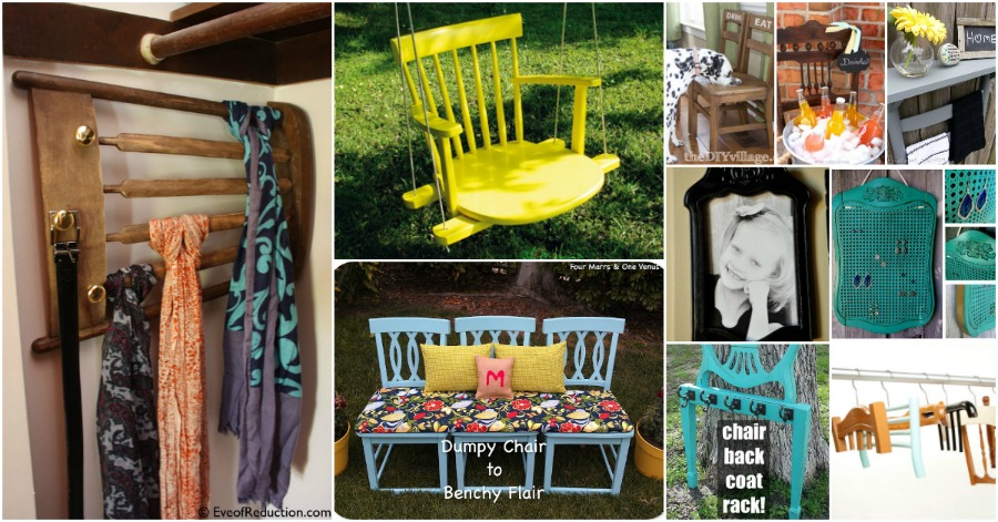 20 Brilliantly Creative Ways To Repurpose Old Chairs - DIY & Craf