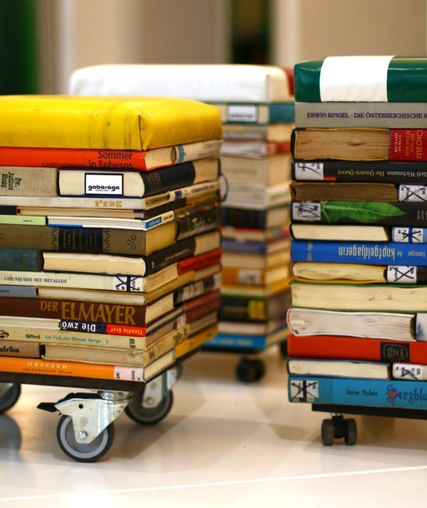 Books Into Stool   Diy old books, Upcycled furniture diy, Diy bo