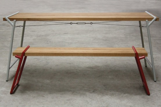 Functional Industrial Atlas Dining Table And Desk In One - DigsDi