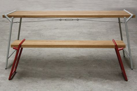 Functional Industrial Atlas Dining Table And Desk In One (With .