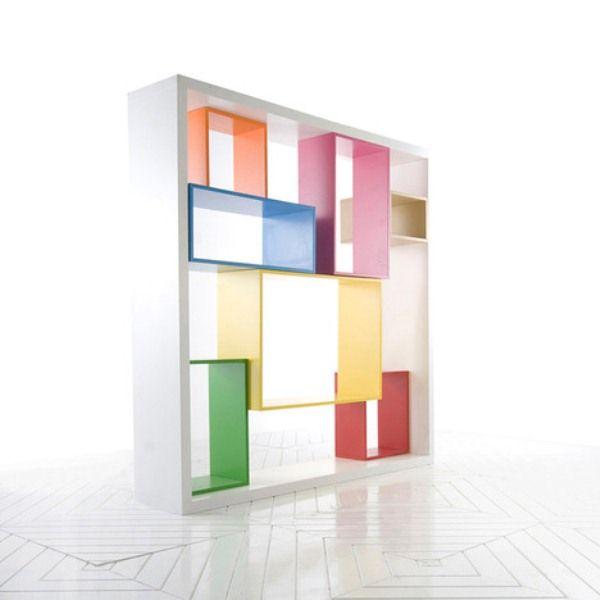 Functional Multidimensional Colorful Shelving Unit | Corner shelf .