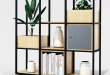 Novus Modular Shelving is a multi-functional zoning system forged .