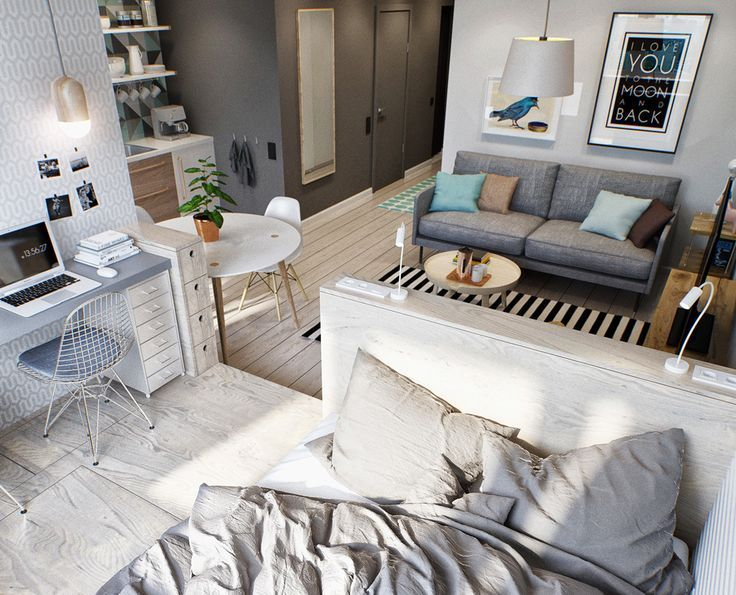 Furnish a small apartment in a modern and functional way - Small .
