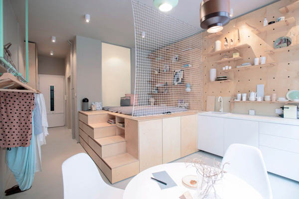 Small But Functional Apartment Designed for Travelers   Design Sw