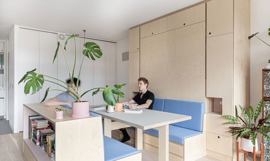 Small Studio Apartment in London Gets a Multi-Functional Wall that .