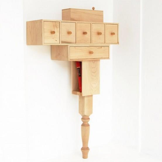 Functional Small Nightstand Of Maple Wood - DigsDi