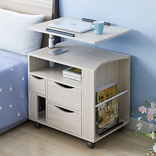 Amazon.com: CL- Bedside Table, Simple liftable Mobile Multi .