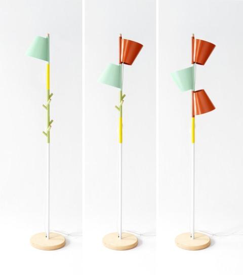 Functional Stacking Lamp With Coat Hangers - DigsDi