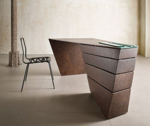 The industrial Torque desk design equally follows art and function .