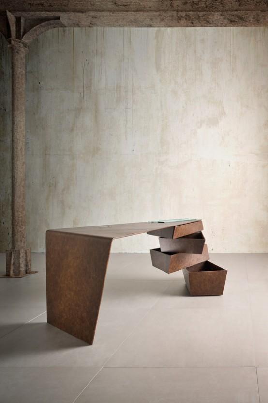 Funkcionális asztal indusztriális stílusban – Készház Portál .