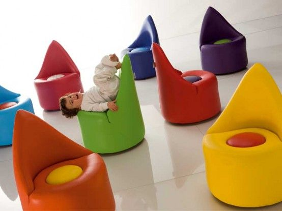"""The Symbol Baby"""", funny colorful armchair with ideal size for ."""