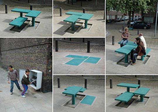 Pop-up street furniture revealed - Business Improvement District H