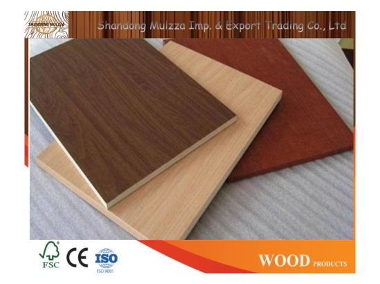 China Stock Size Wood Grain Plain/Melamine Laminated Furniture .