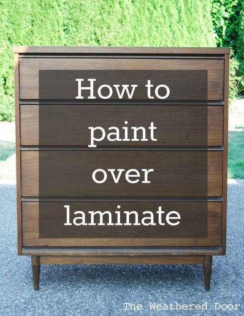How to Paint over Laminate and why I love furniture with laminate .
