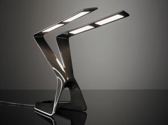 Liternity Victory Carbon Fibre OLED Lamp   Carbon fiber, Lamp, Fib