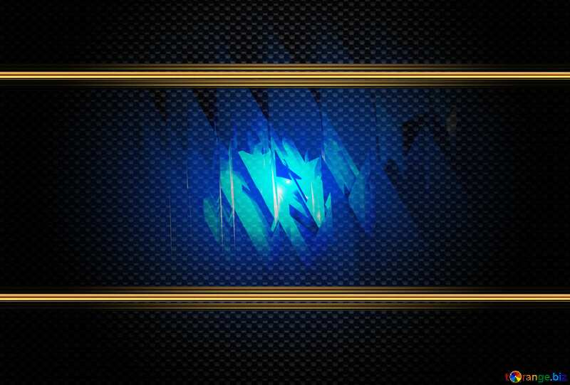 Download free picture Blue futuristic background. carbon gold .