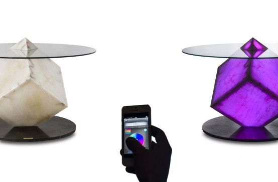 Futuristic Cupiditas Table Controlled By Smartphones And Tablets .