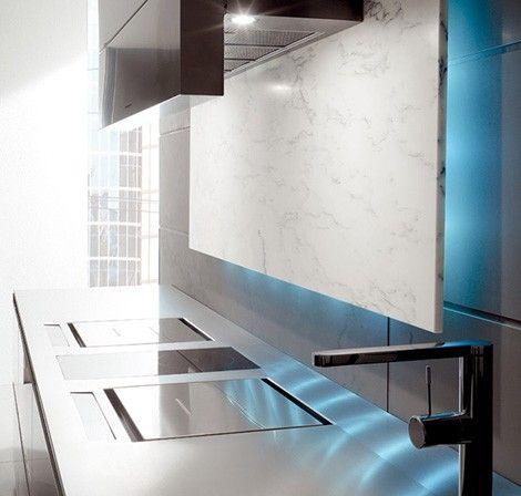 Luxury Kitchen Kitchen with LED Illumination from Toncelli creates .