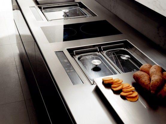 Italian Futuristic Kitchen Design With LED Lights | Kitchen design .