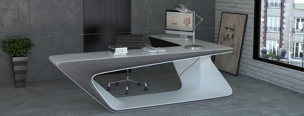 Futuristic L-shaped Desk For Modern Workspaces - DigsDi
