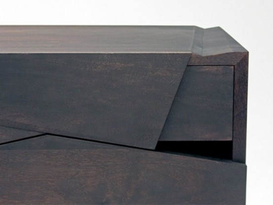 Futuristic Piega Cabinet That Imitates Paper Folds - DigsDi