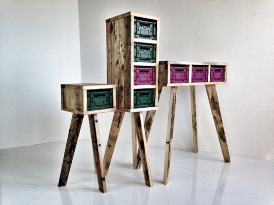 Futuristic Stiltboxes Furniture Of Recycled Materials | DigsDigs .