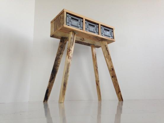 Futuristic Stiltboxes Furniture Of Recycled Materials - DigsDi