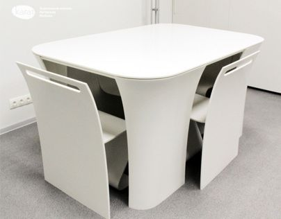 Table 2&2. Very futuristic | Modern table and chairs, Modern table .