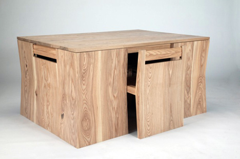Chubby Brothers Hidden Chairs Dining Table | Yanko Desi