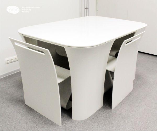 Table 2&2 by Yury Veredyuk, via Behance | Modern table and chairs .