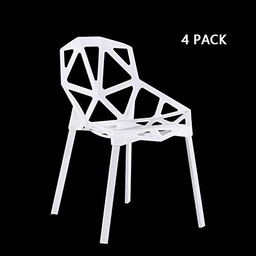 Amazon.com: MIMI KING Fashion Dining Chair Geometric Hollow Chair .