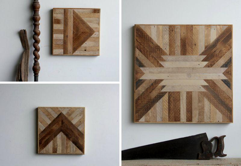 Geometric Wood Wall Panels - HAPPINESS IS.