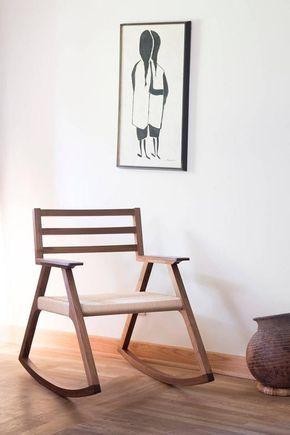 Giacomo Rocking Chair, Walnut and Woven Danish Cord | Chair design .