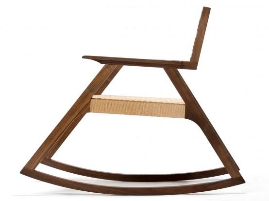 Giacomo Rocker Chair With Minimalist Design In White Oak - DigsDi