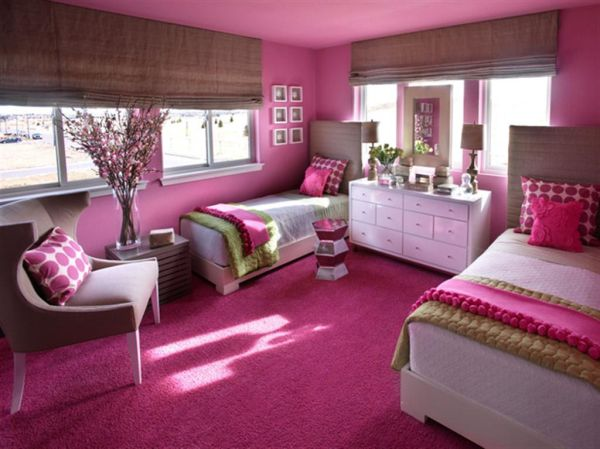 Stylish Girls Pink Bedrooms Ide