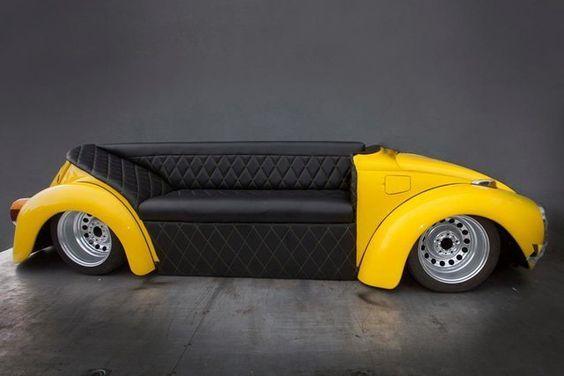 vw beetle sofa: | Garage furniture, Car part furniture, Car furnitu