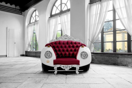 Glamour Beetle Armchair Mixing Glam And Car Parts - DigsDi