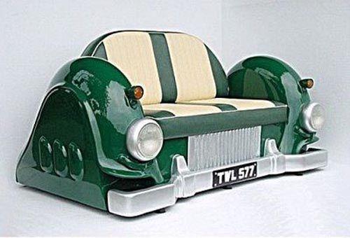 Sleeping on the Pontiac sofa | Car furniture, Car part furniture .