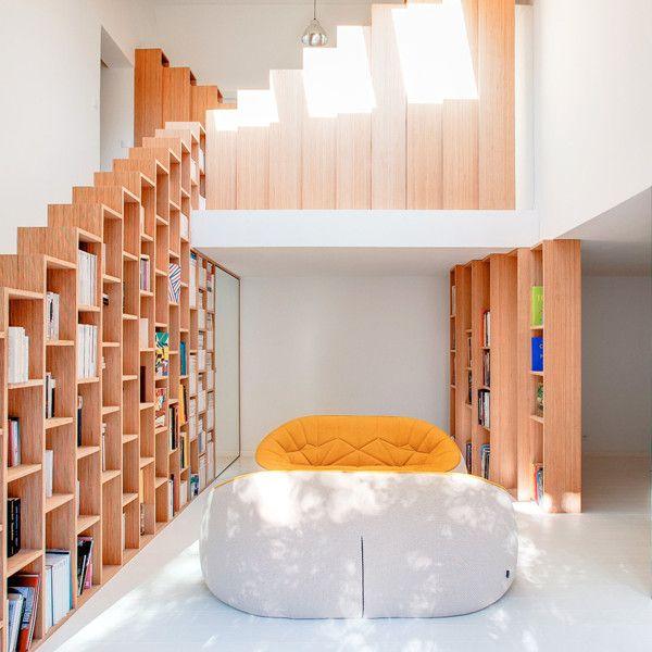 20 Bookshelves That Wow | Bright homes, House design, Minimalist .