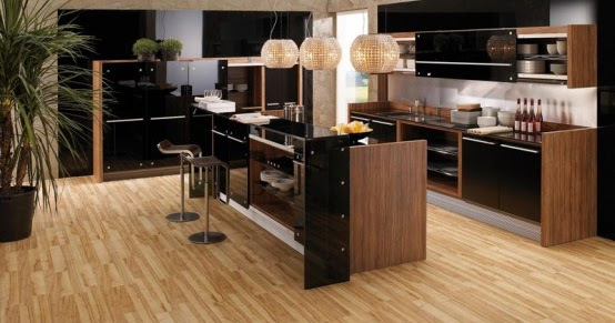 Home Interior Project: Amazing Glossy Lacquer with Natural Wood .